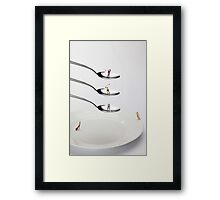 People Playing Golf On Spoons Framed Print