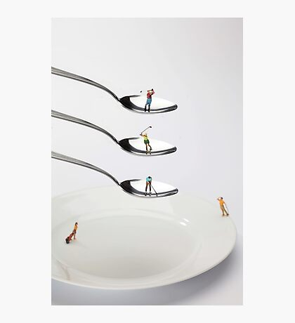 People Playing Golf On Spoons Photographic Print