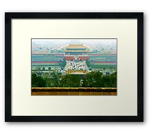 Forbbiden City, Beijing, China. Framed Print