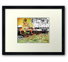 pixelation  Framed Print