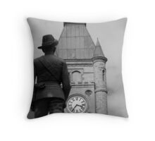 Guarding time.. Throw Pillow