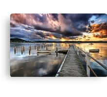 Dusk Lightshow Canvas Print