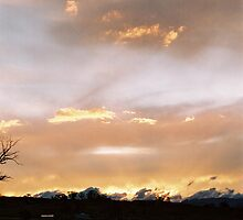 Sunset at Jindabyne by Richard  Willett