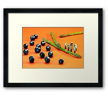 Blueberry Protesting Framed Print