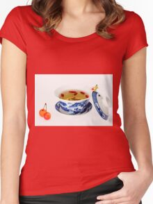 Making Longjing Tea traditional chinese culture  Women's Fitted Scoop T-Shirt