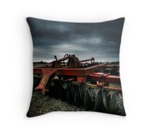 Lonely plow Throw Pillow
