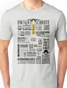 The Wise Words of Dwight Schrute (Light Tee) Unisex T-Shirt