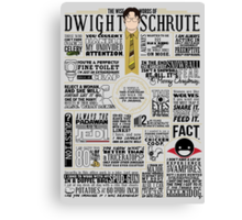 The Wise Words of Dwight Schrute (Light Tee) Canvas Print