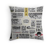 The Wise Words of Dwight Schrute (Light Tee) Throw Pillow