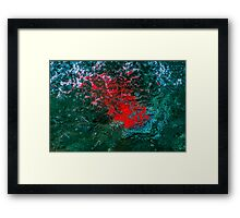 Illuminated Water - Red Framed Print