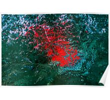 Illuminated Water - Red Poster