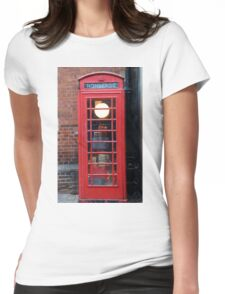 Unusual phone box Womens Fitted T-Shirt
