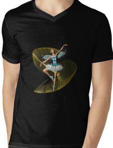 Fairy Ballerina Mens V-Neck T-Shirt