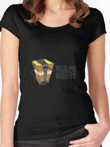 ClapTrap Troubles Women's Fitted Scoop T-Shirt