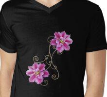 clematis Mens V-Neck T-Shirt