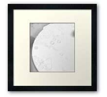 Empty Cup with Dew Framed Print