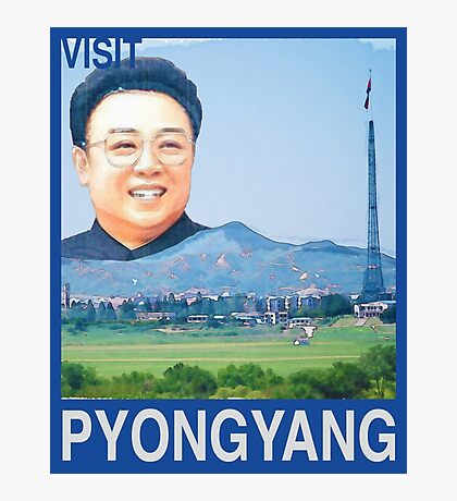 Visit PYONGYANG Travel Poster Photographic Print