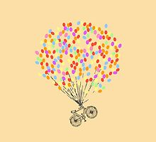 Bike & Balloons by NatalieMirosch