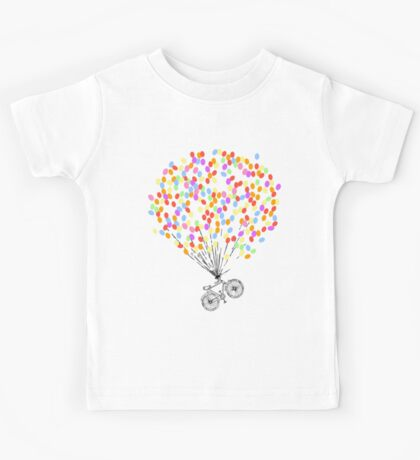 Bike & Balloons Kids Tee