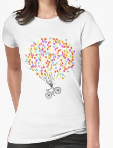 Bike & Balloons Womens Fitted T-Shirt