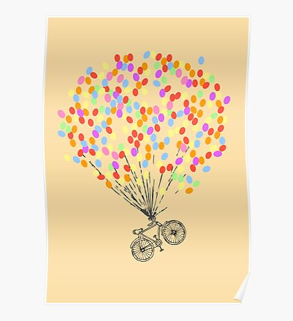 Bike & Balloons Poster