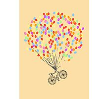 Bike & Balloons Photographic Print