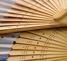 Oriental wooden fan by afby