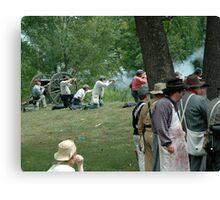 American Civil War reenactment Canvas Print