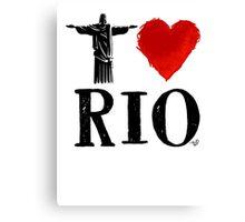 I Heart Rio de Janeiro (blk) by Tai's Tees Canvas Print