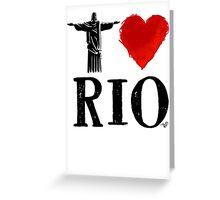 I Heart Rio de Janeiro (blk) by Tai's Tees Greeting Card