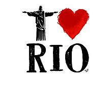 I Heart Rio de Janeiro (blk) by Tai's Tees Photographic Print
