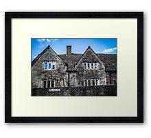 Old House in the Village of Lacock Framed Print