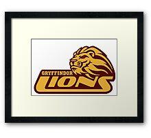 Gryffindor Lions Framed Print