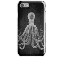 Vintage Lord Bodner Octopus Print - White on Black iPhone Case/Skin