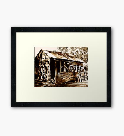 Aussie Outback Shed Framed Print