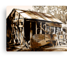 Aussie Outback Shed Metal Print