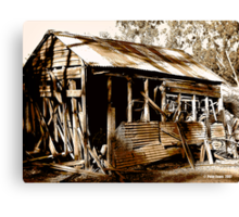 Aussie Outback Shed Canvas Print