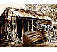 Aussie Outback Shed Photographic Print