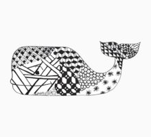 Zentangle Whale by gilraae