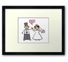 Just Married! Framed Print