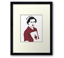 Retro Red Cross Nurse Framed Print