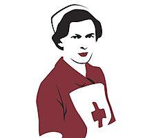 Retro Red Cross Nurse Photographic Print