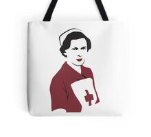 Retro Red Cross Nurse Tote Bag