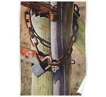 Rusty Fence Gate Poster