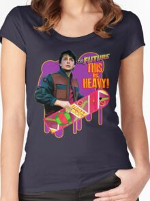 Happy 2015 - The Future, this is heavy Women's Fitted Scoop T-Shirt