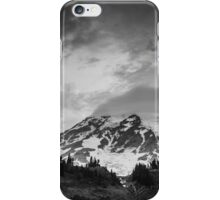 Mount Rainier in Black and White iPhone Case/Skin