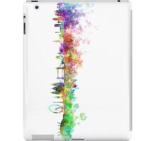 London skyline in watercolor on white background iPad Case/Skin