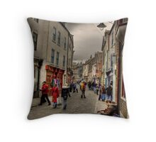 Busking Throw Pillow