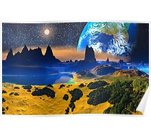 View of Earth. Poster