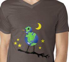 Global Bird For Earth Day Mens V-Neck T-Shirt